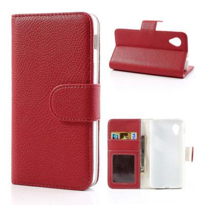LG Nexus 5 Punainen Lompakko Suojakotelo