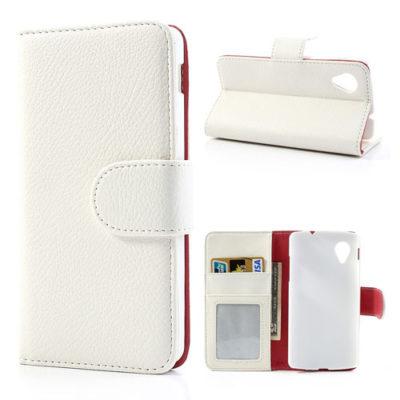 LG Nexus 5 Valkoinen Lompakko Suojakotelo