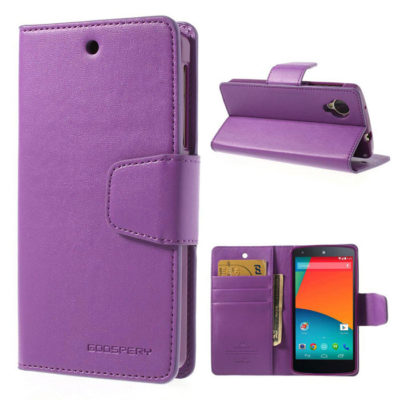 LG Nexus 5 Violetti Sonata Lompakkokotelo