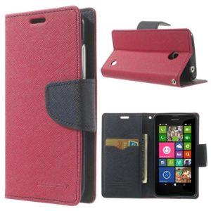 Nokia Lumia 630 / 635 Pinkki Fancy Lompakkokotelo