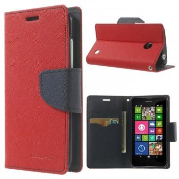 Nokia Lumia 630 / 635 Punainen Fancy Lompakkokotelo