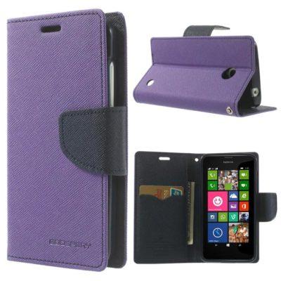 Nokia Lumia 630 / 635 Violetti Fancy Lompakkokotelo