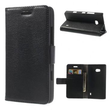 Nokia Lumia 930 Musta Lompakko Suojakotelo