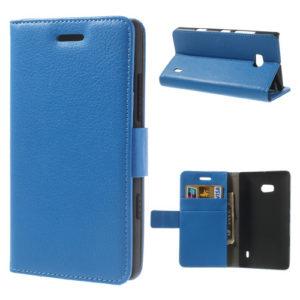 Nokia Lumia 930 Sininen Lompakko Suojakotelo
