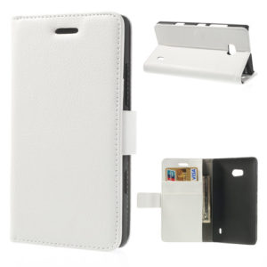 Nokia Lumia 930 Valkoinen Lompakko Suojakotelo