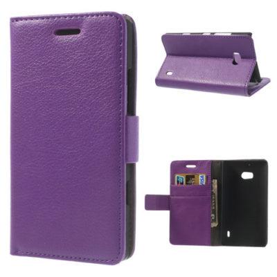 Nokia Lumia 930 Violetti Lompakko Suojakotelo