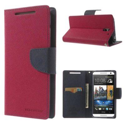 HTC Desire 610 Pinkki Fancy Lompakko Suojakuori
