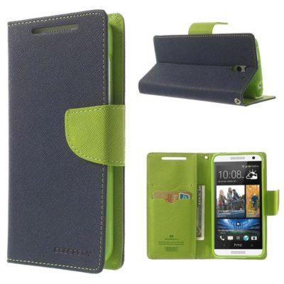 HTC Desire 610 Sininen Fancy Lompakko Suojakuori