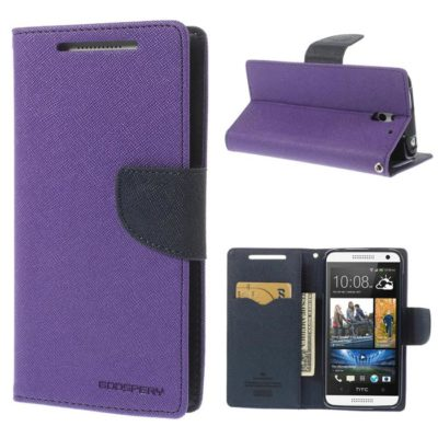 HTC Desire 610 Violetti Fancy Lompakko Suojakuori