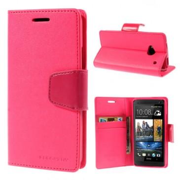 HTC One M7 Pinkki Sonata Lompakko Suojakuori