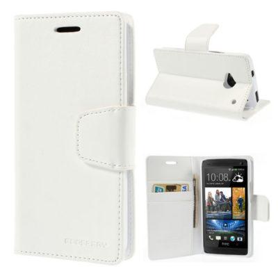 HTC One M7 Valkoinen Sonata Lompakko Suojakuori