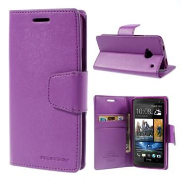 HTC One M7 Violetti Sonata Lompakko Suojakuori