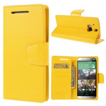 HTC One M8 Keltainen Sonata Lompakko Suojakuori