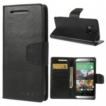HTC One M8 Musta Sonata Lompakko Suojakuori