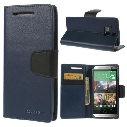 HTC One M8 Sininen Sonata Lompakko Suojakuori