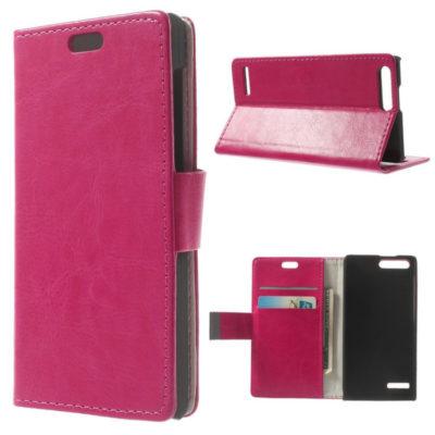 Huawei Ascend G6 4G Pinkki Lompakko Suojakotelo