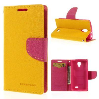 LG F70 Keltainen Fancy Lompakko Suojakuori