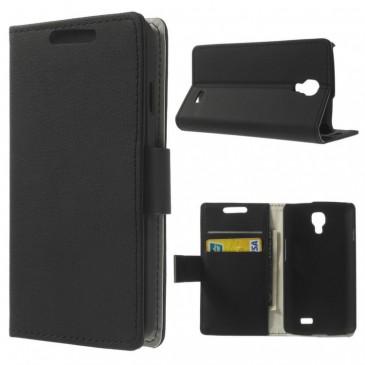 LG F70 Musta Lompakko Suojakotelo