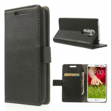 LG G2 Mini Musta Lompakkokotelo Suoja