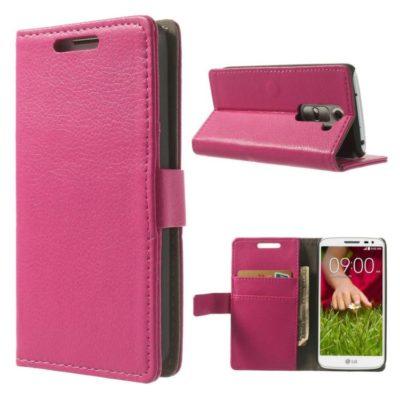 LG G2 Mini Pinkki Lompakkokotelo Suoja