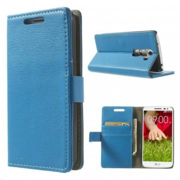LG G2 Mini Sininen Lompakkokotelo Suoja