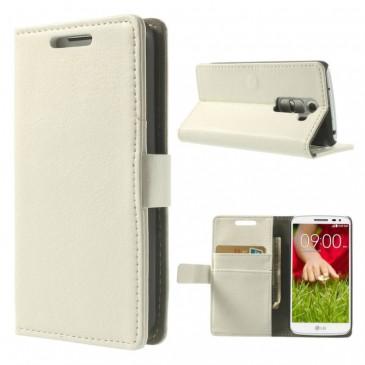 LG G2 Mini Valkoinen Lompakkokotelo Suoja
