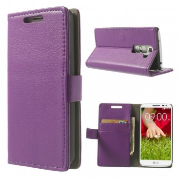 LG G2 Mini Violetti Lompakkokotelo Suoja