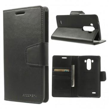 LG G3 Musta Sonata Lompakko Suojakotelo