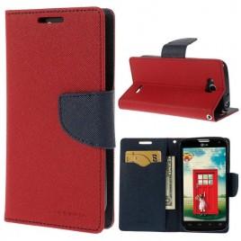 LG L90 Punainen Fancy Lompakko Suojakuori
