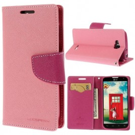 LG L90 Vaaleanpunainen Fancy Lompakko Suojakuori