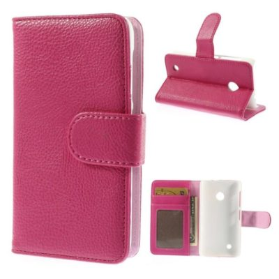 Nokia Lumia 530 Pinkki Lompakko Suojakotelo