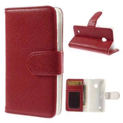 Nokia Lumia 530 Punainen Lompakko Suojakotelo