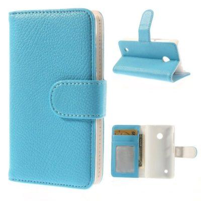 Nokia Lumia 530 Sininen Lompakko Suojakotelo