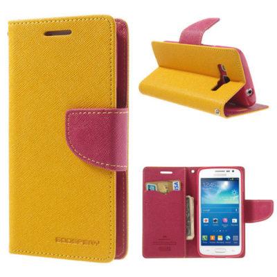 Samsung Galaxy Express 2 Keltainen Fancy Lompakkokotelo