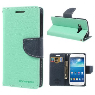 Samsung Galaxy Express 2 Syaani Fancy Lompakkokotelo
