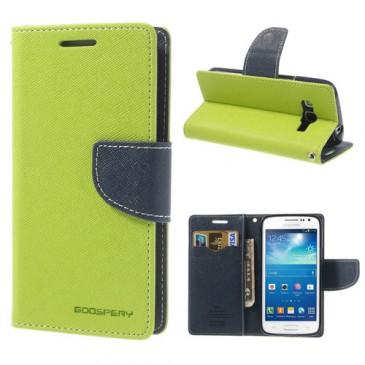Samsung Galaxy Express 2 Vihreä Fancy Lompakkokotelo