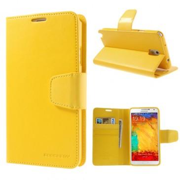 Samsung Galaxy Note 3 Keltainen Sonata Lompakkokotelo