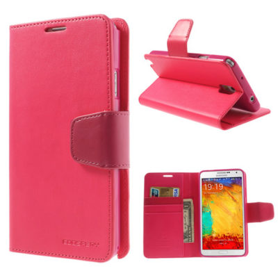 Samsung Galaxy Note 3 Pinkki Sonata Lompakkokotelo