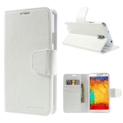 Samsung Galaxy Note 3 Valkoinen Sonata Lompakkokotelo