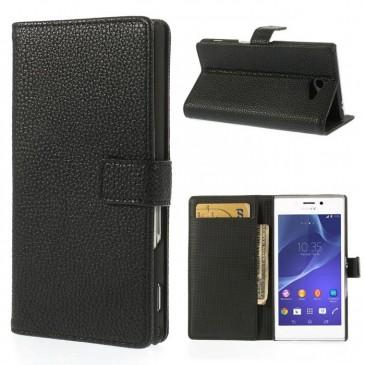 Sony Xperia M2 Musta Lompakko Suojakotelo