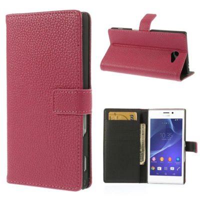Sony Xperia M2 Pinkki Lompakko Suojakotelo