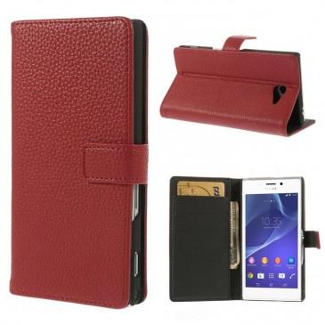 Sony Xperia M2 Punainen Lompakko Suojakotelo
