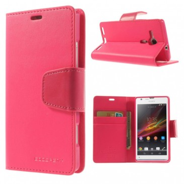 Sony Xperia SP Pinkki Sonata Lompakko Suojakuori