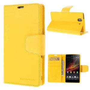 Sony Xperia Z Keltainen Sonata Lompakko Suojakuori