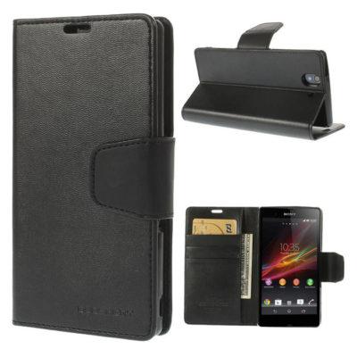 Sony Xperia Z Musta Sonata Lompakko Suojakuori