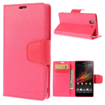 Sony Xperia Z Pinkki Sonata Lompakko Suojakuori