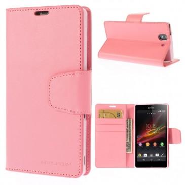 Sony Xperia Z Vaaleanpunainen Sonata Lompakko Suojakuori