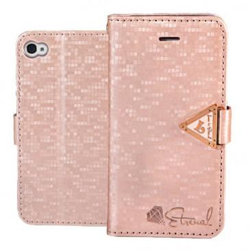 Apple iPhone 4 / 4S Vaaleanpunainen Leiers Kotelo