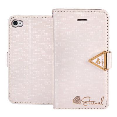 Apple iPhone 4 / 4S Valkoinen Leiers Suojakotelo