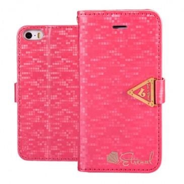 Apple iPhone 5 / 5S / SE Pinkki Leiers Suojakotelo